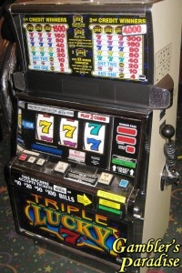 IGT S2000 Triple Lucky 7 Slot Machine 001