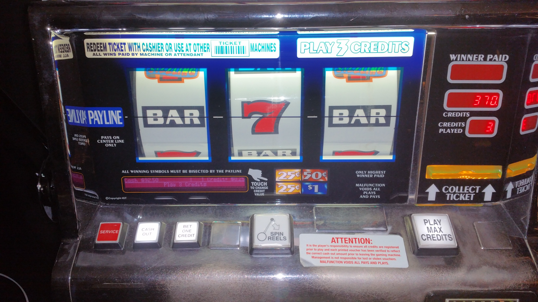 sizzling 7 slot machine for sale