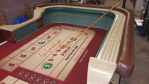 Casino Craps Table 12′ Burl and Marble Finish Authentic Casino