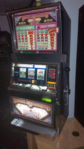 double diamond deluxe slot machine for sale