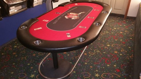 Casino Stud Poker Table with Drink Holders