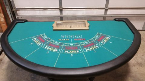 Casino Mini Baccarat Table Complete
