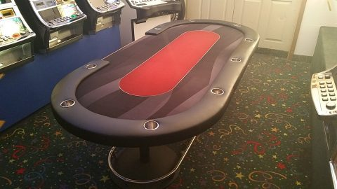 Casino Poker Table 8′ with 360% Foot Rail