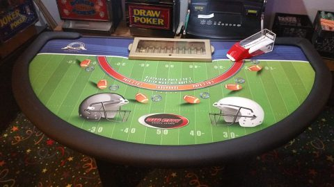 Casino Blackjack Table Football Layout