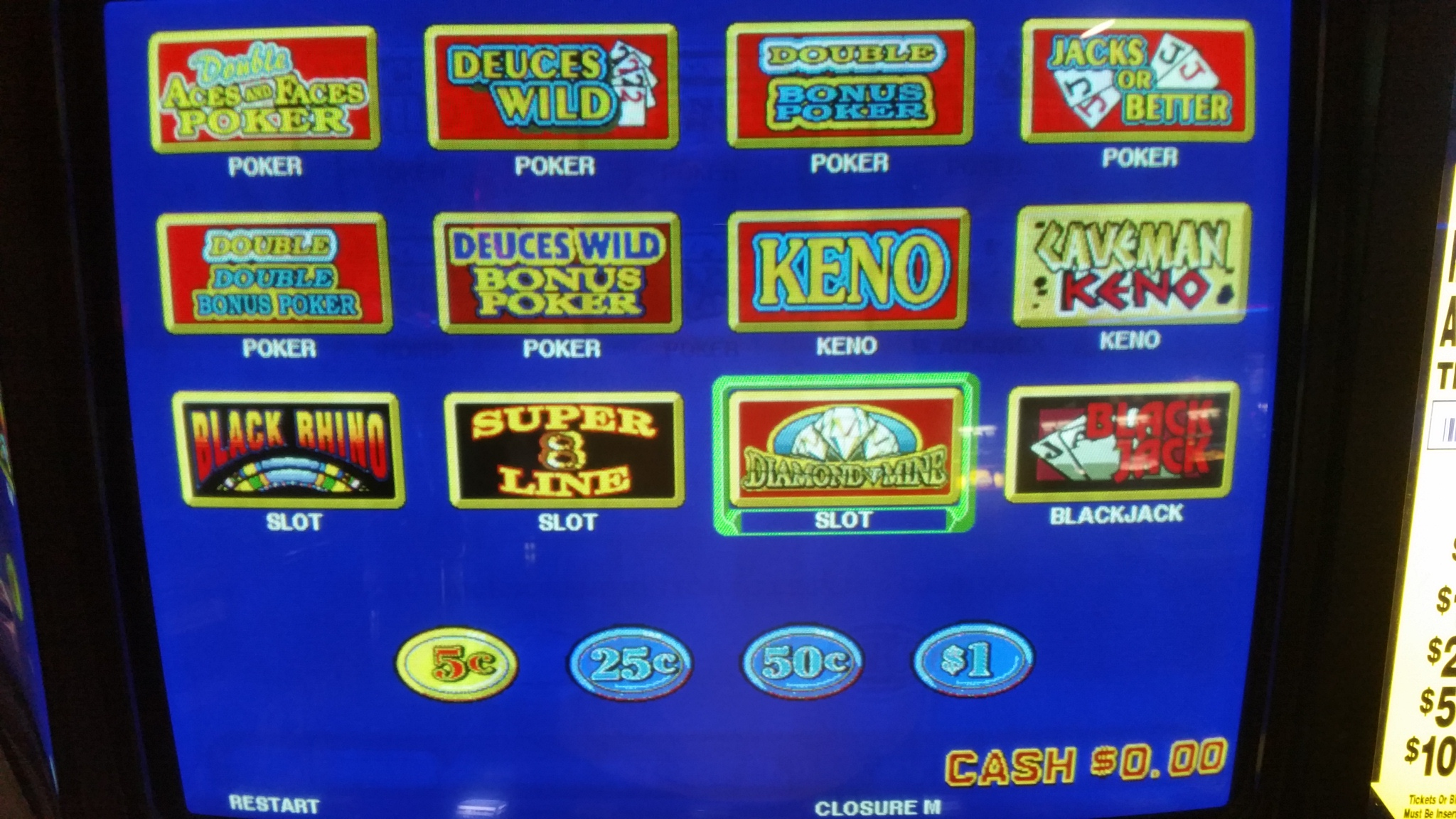touch screen slot machines