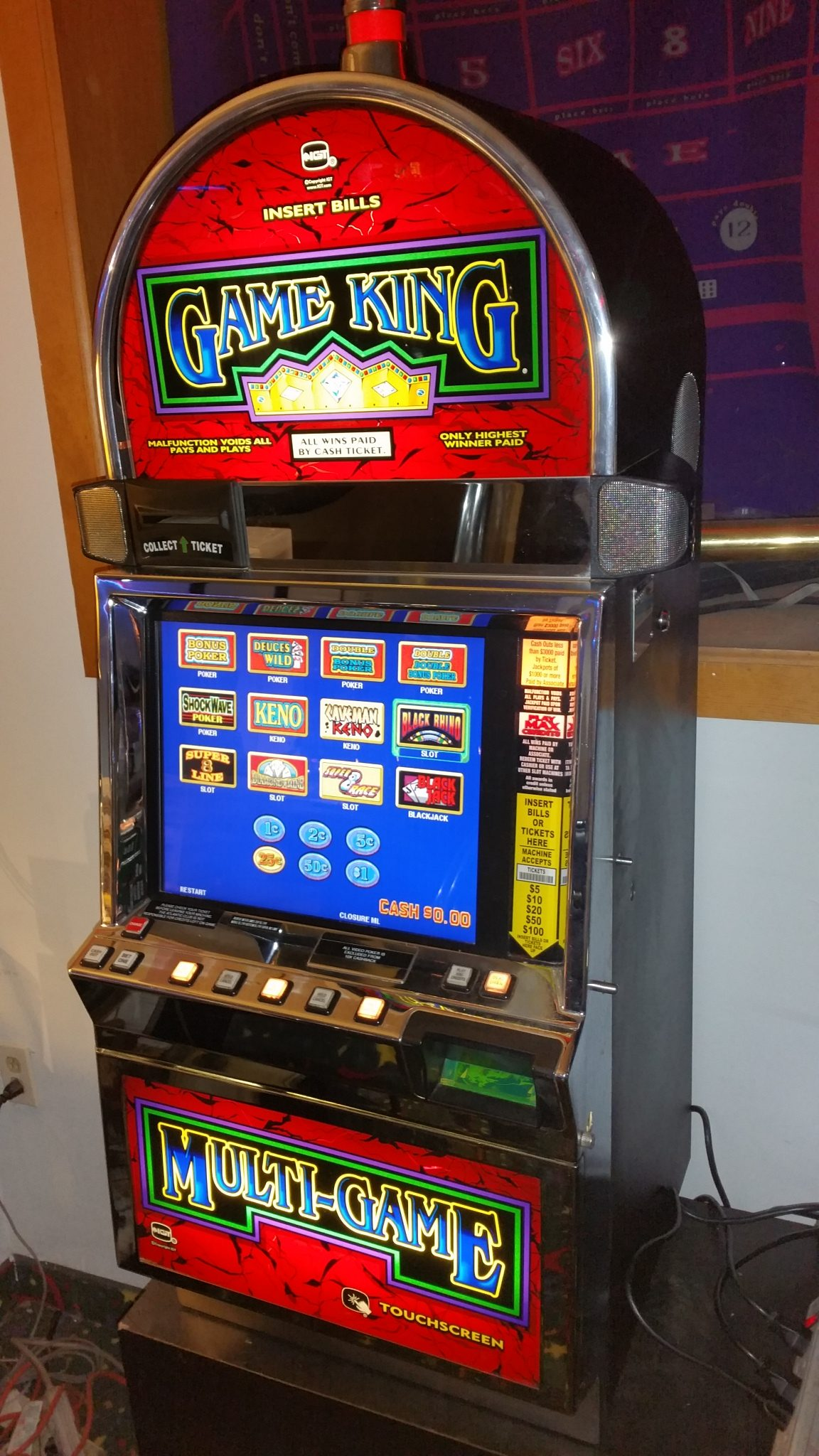 slot machines used