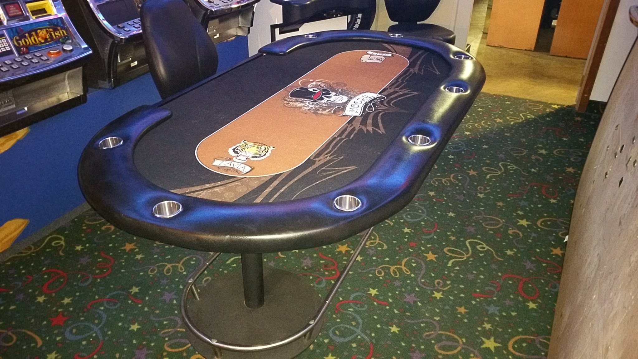 Casino Stud Poker Table 7′ With Cup Holders