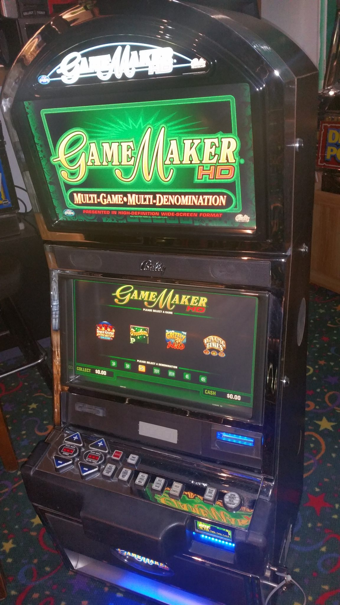 Bally Game Maker Multi-Game Dual 20″ HD LCD Touch Screen
