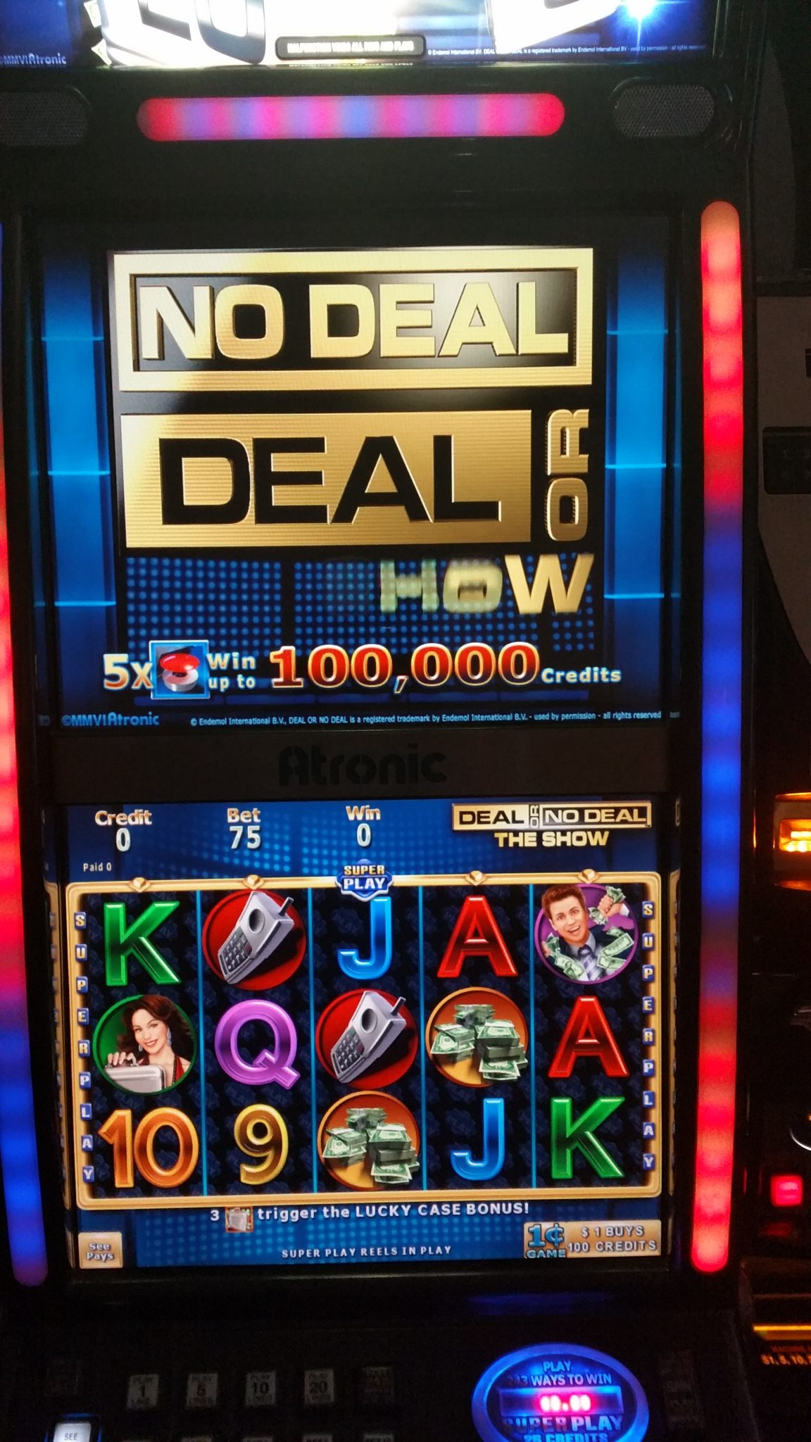 deal or no deal machine for sale