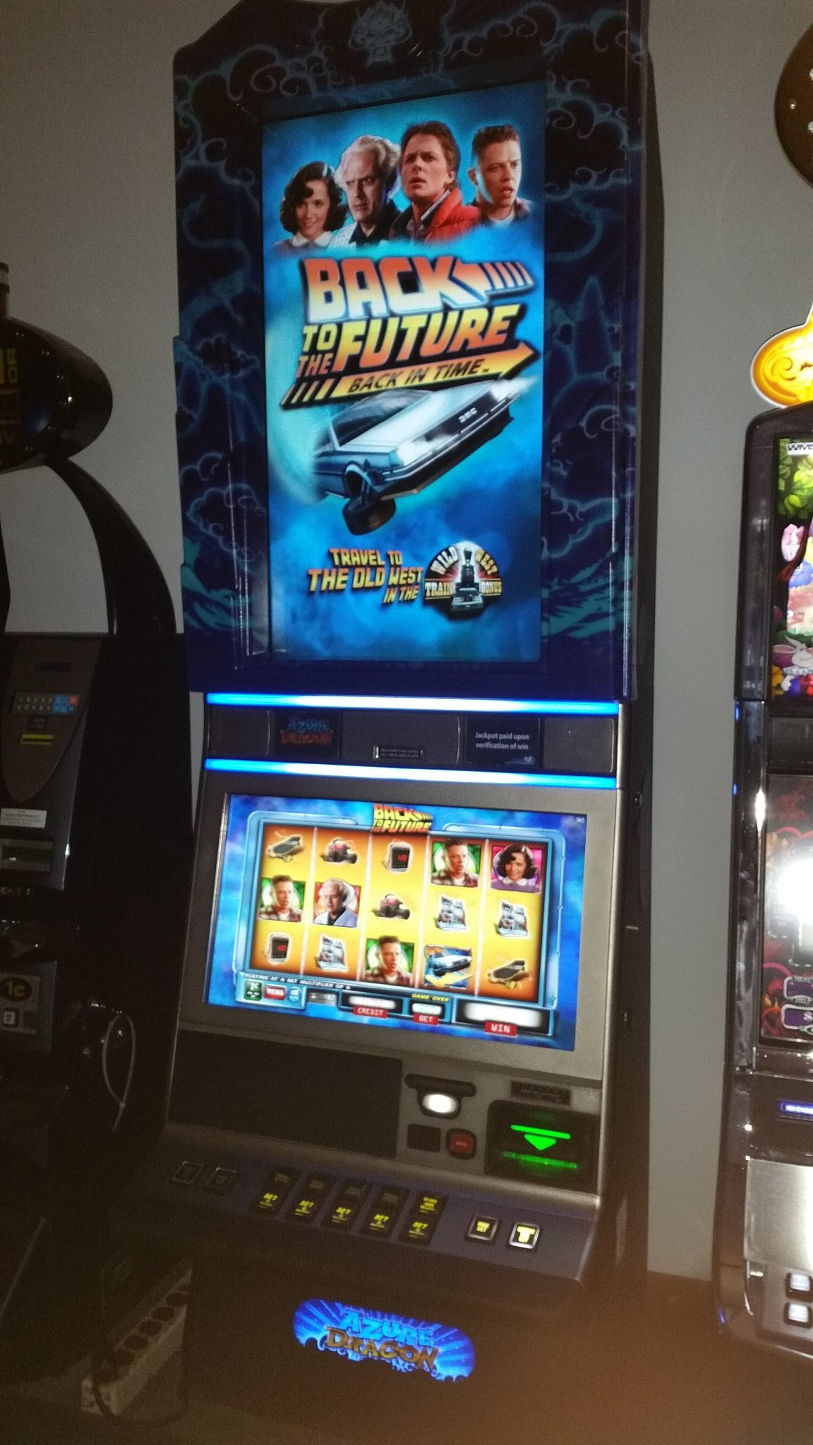 IGT G23 Back to the Future, Back in Time Bonus Slot Machine