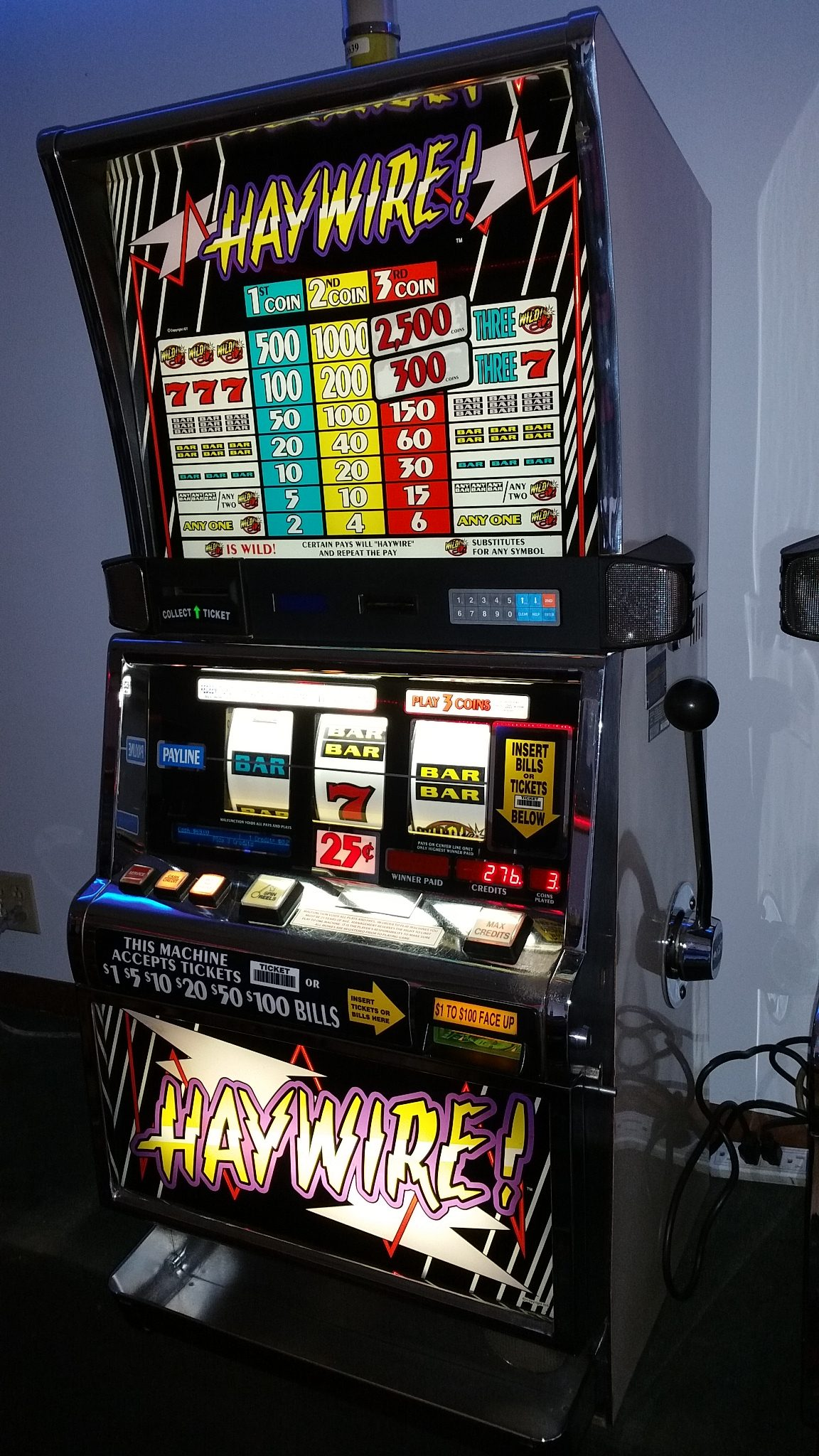 IGT S2000 Haywire .25c Slot Machine