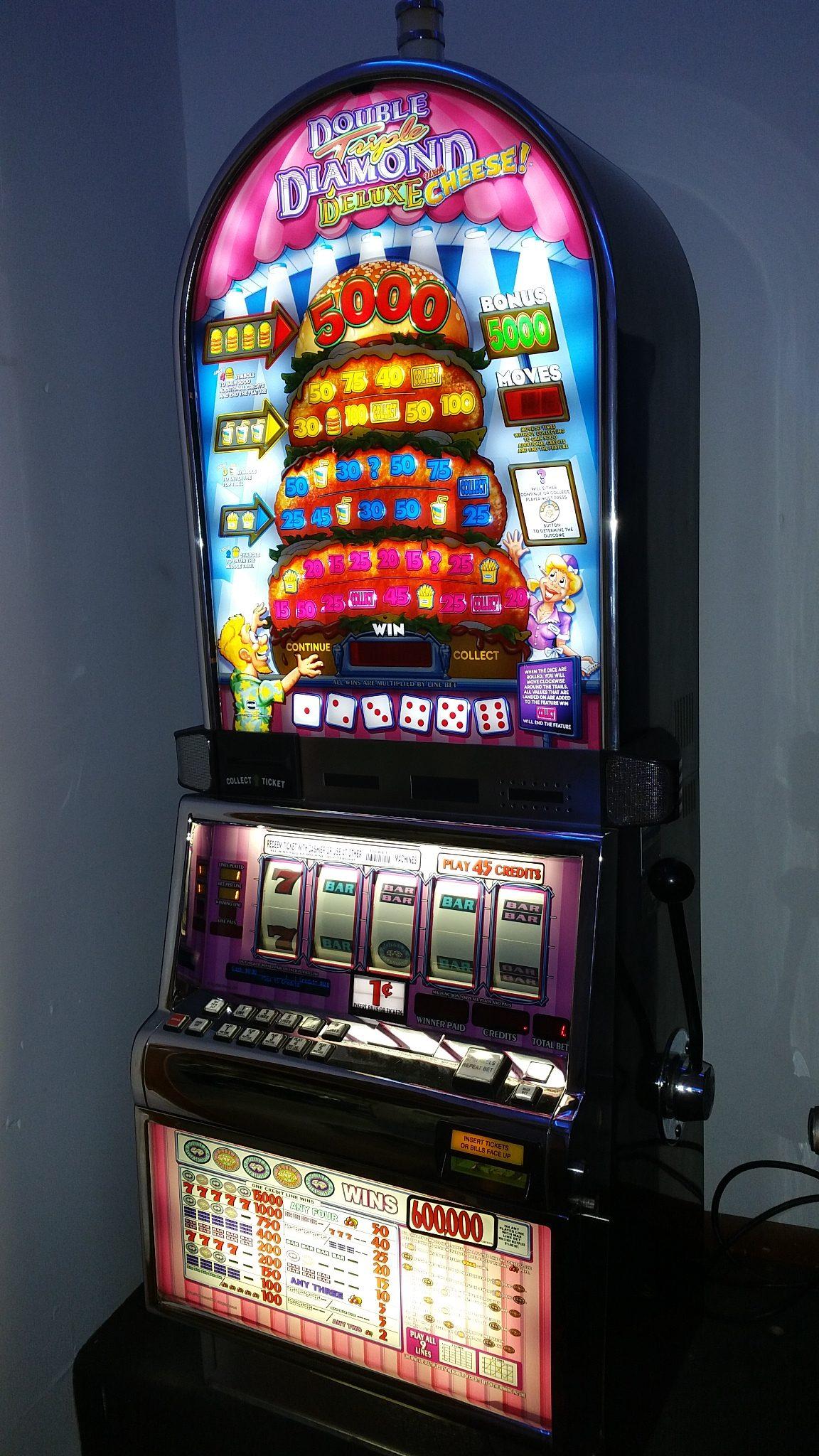 IGT S2000 Double Triple Diamond Deluxe with Cheese Bonus Slot Machine