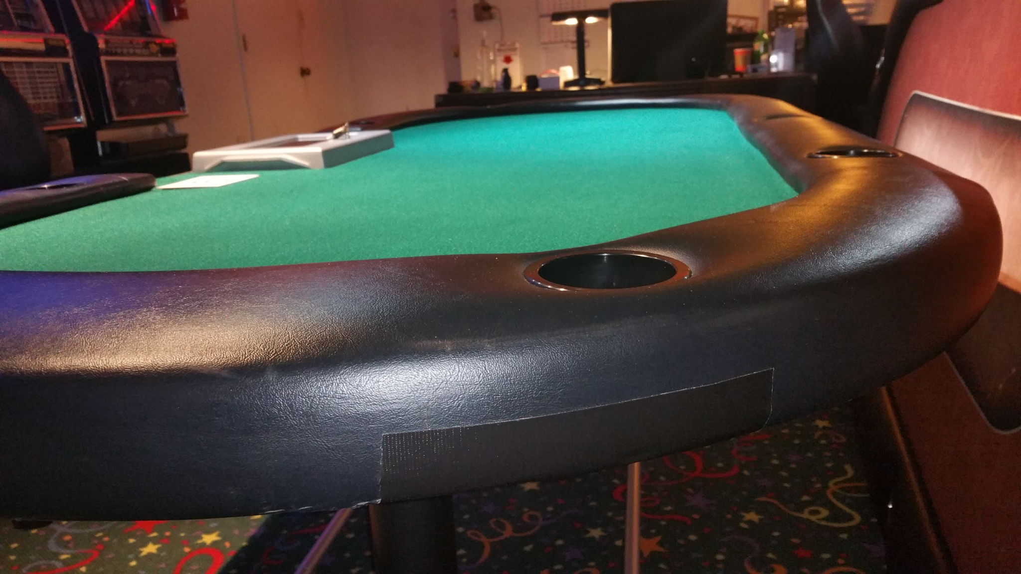 Poker Table Top with Cup Holders and Chip Tray Slot Machines For