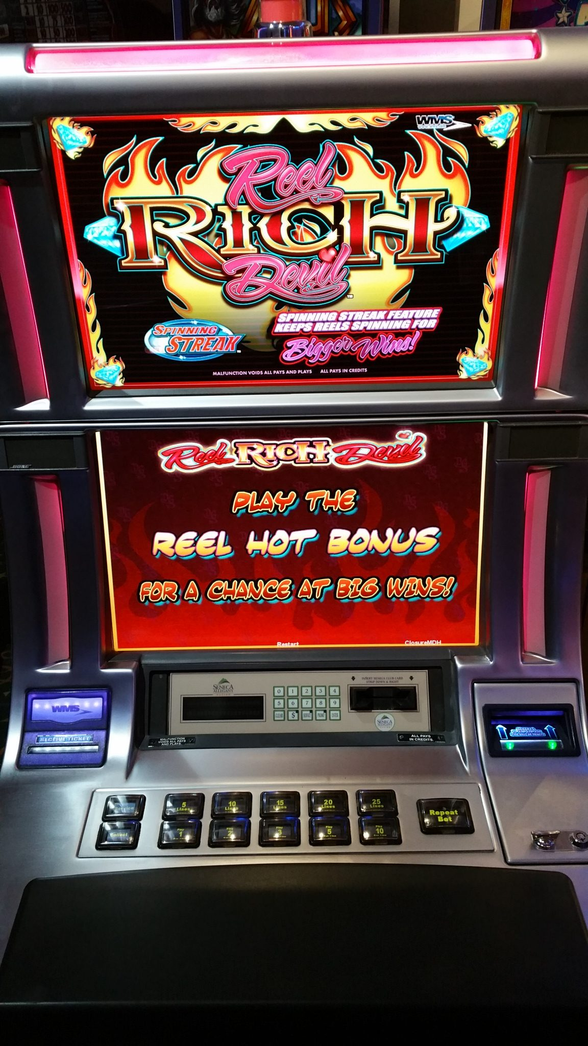 Spinning streak slot machines by wms gaming baccarat super 6 rules
