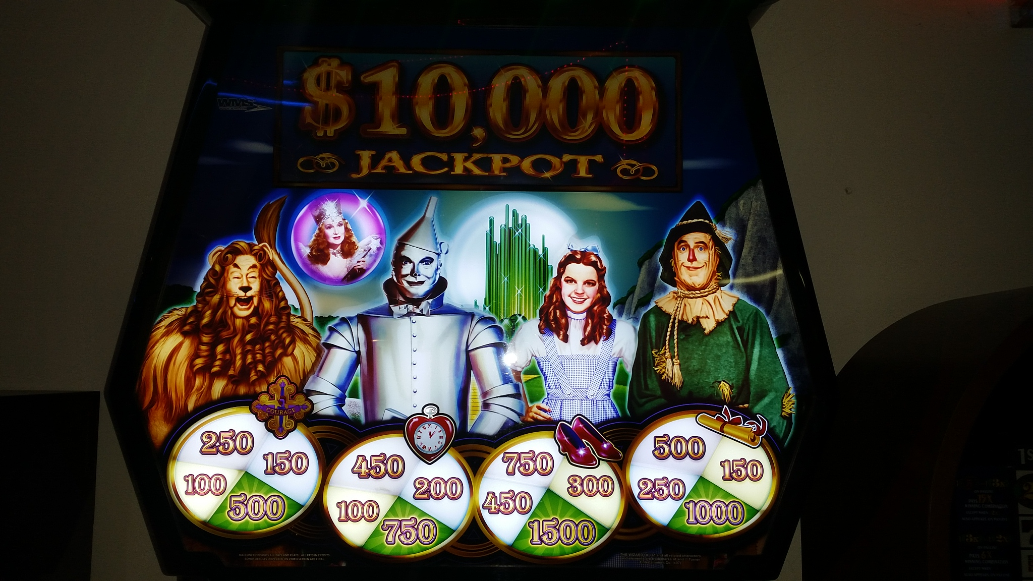wizard of oz casino slot machine for sale