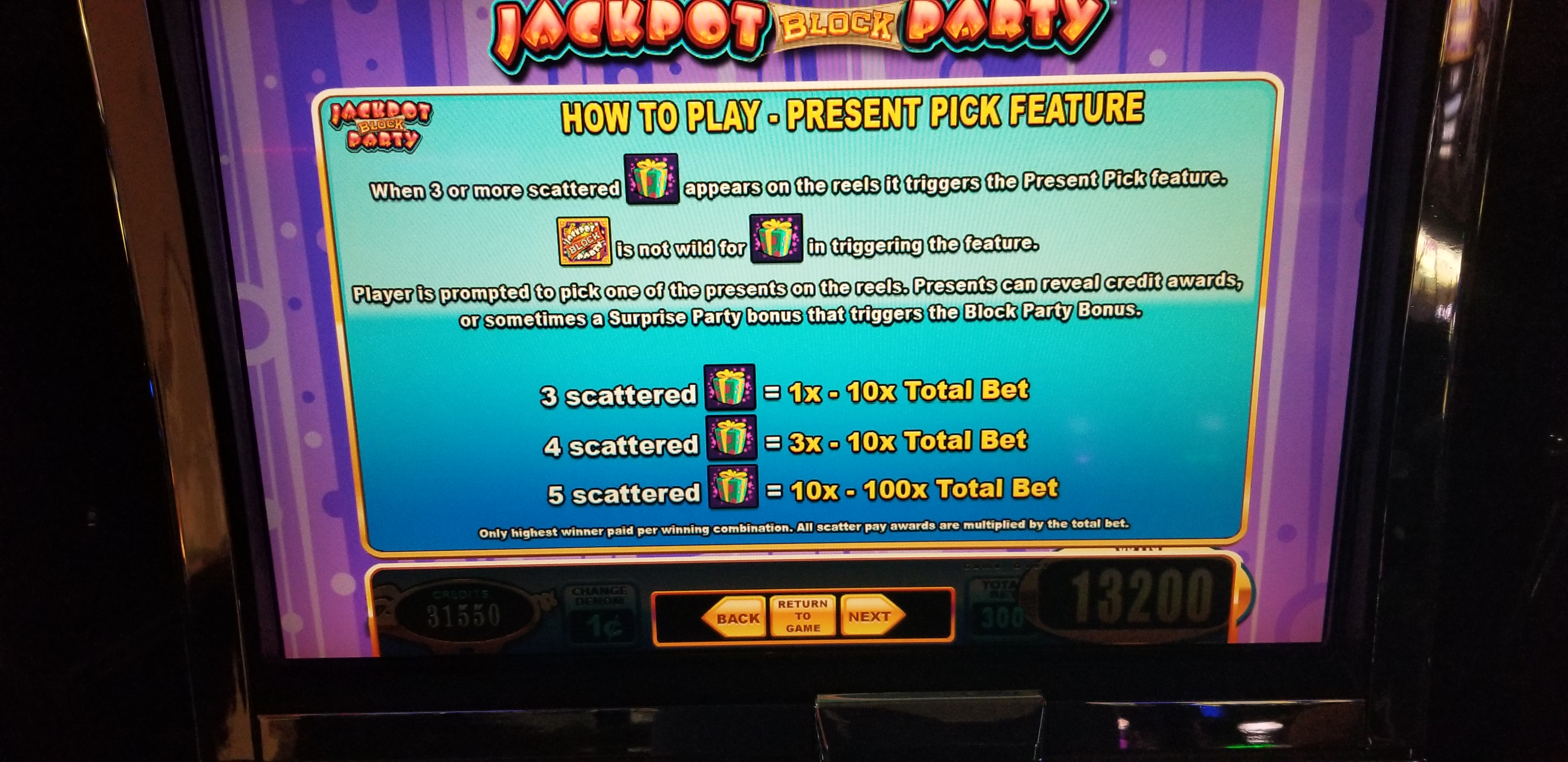 Wms Blue Bird 2 Jackpot Block Party Video Bonus Slot