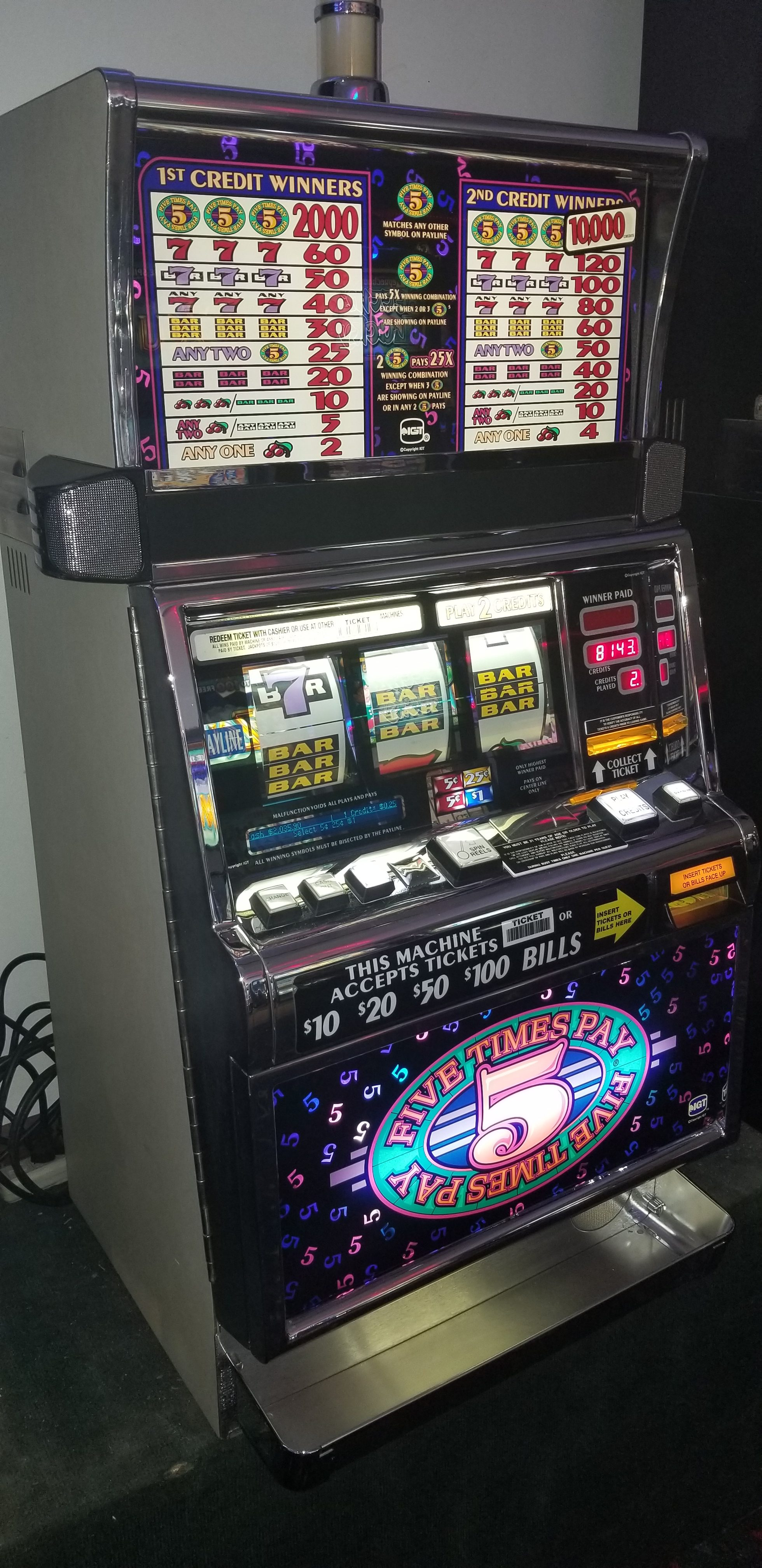 IGT S2000 Five Times Pay 25c Slot Machine - Slot Machines