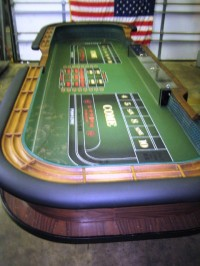 Authentic 14ft Casino Craps Table 023