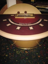 Authentic Casino Blackjack Table 005