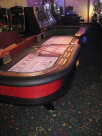 Craps table 12ft Burgandy & Black 024