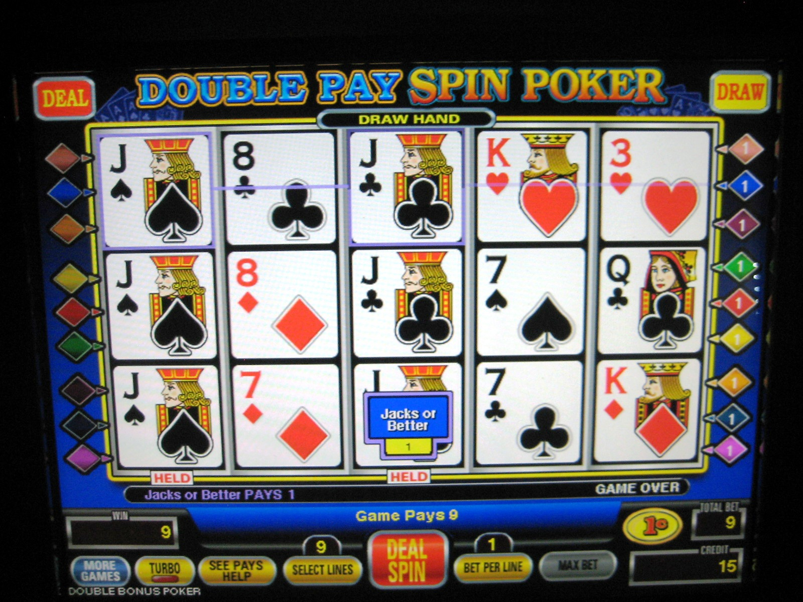 free spin poker video slots