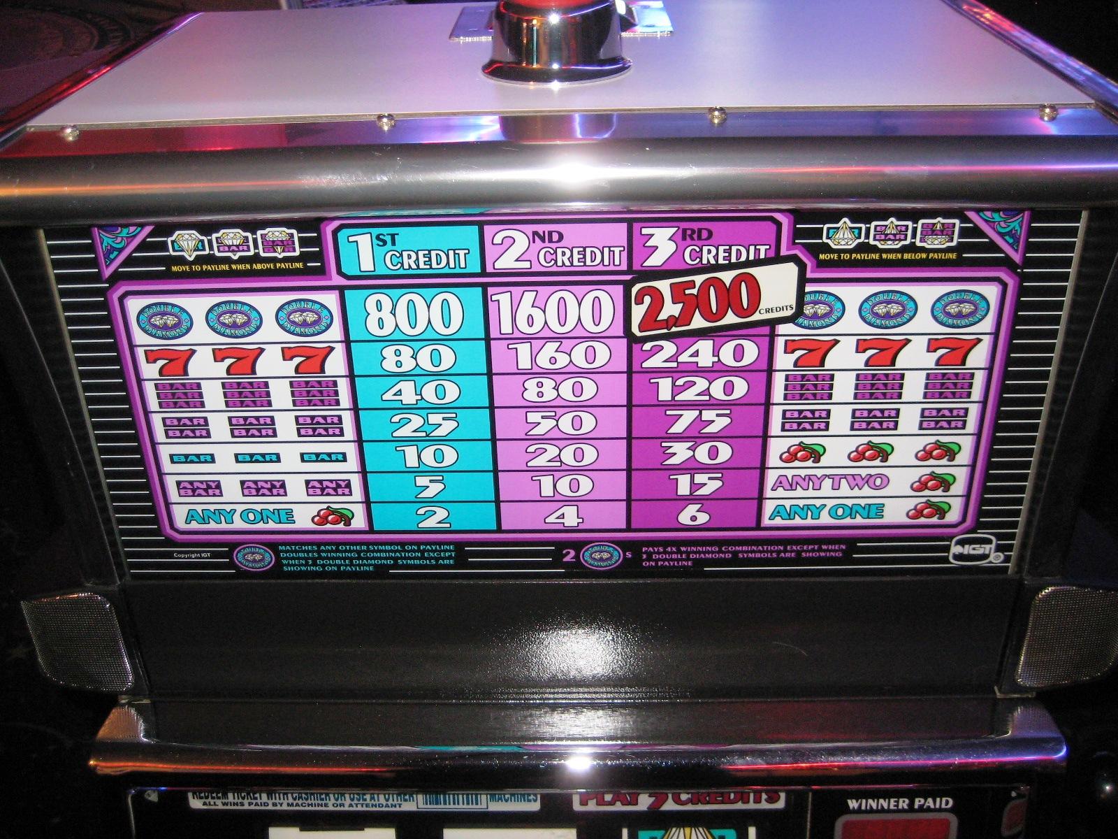 1990 double diamond slots for sale