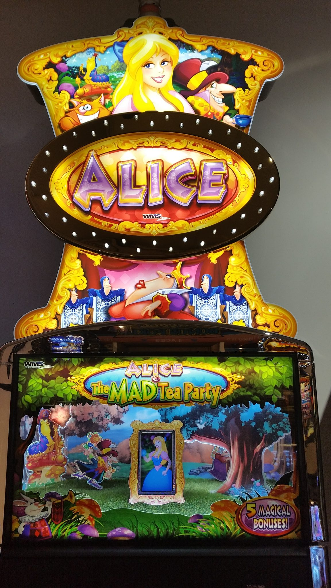 Wms Blue Bird 2 Alice Amp The Mad Tea Party Video Bonus