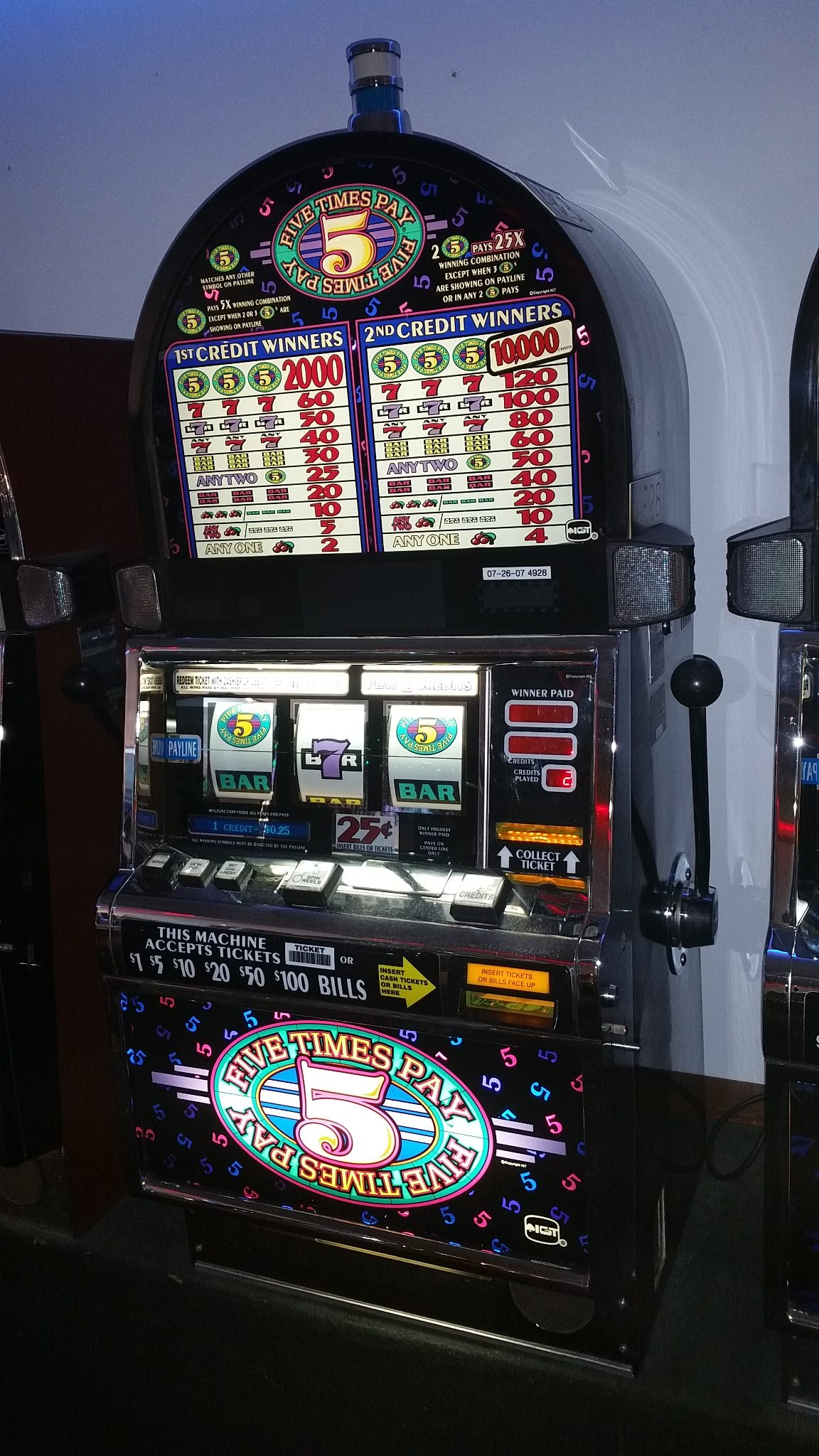 Slot Machine Used