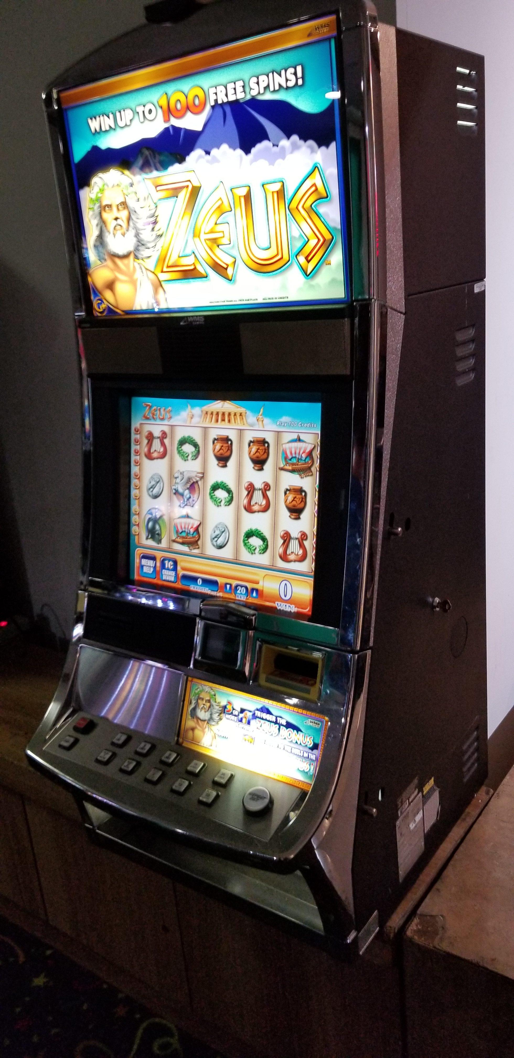 Wms Bb1 Zeus Video Bonus Slot Slot Machines For Sale