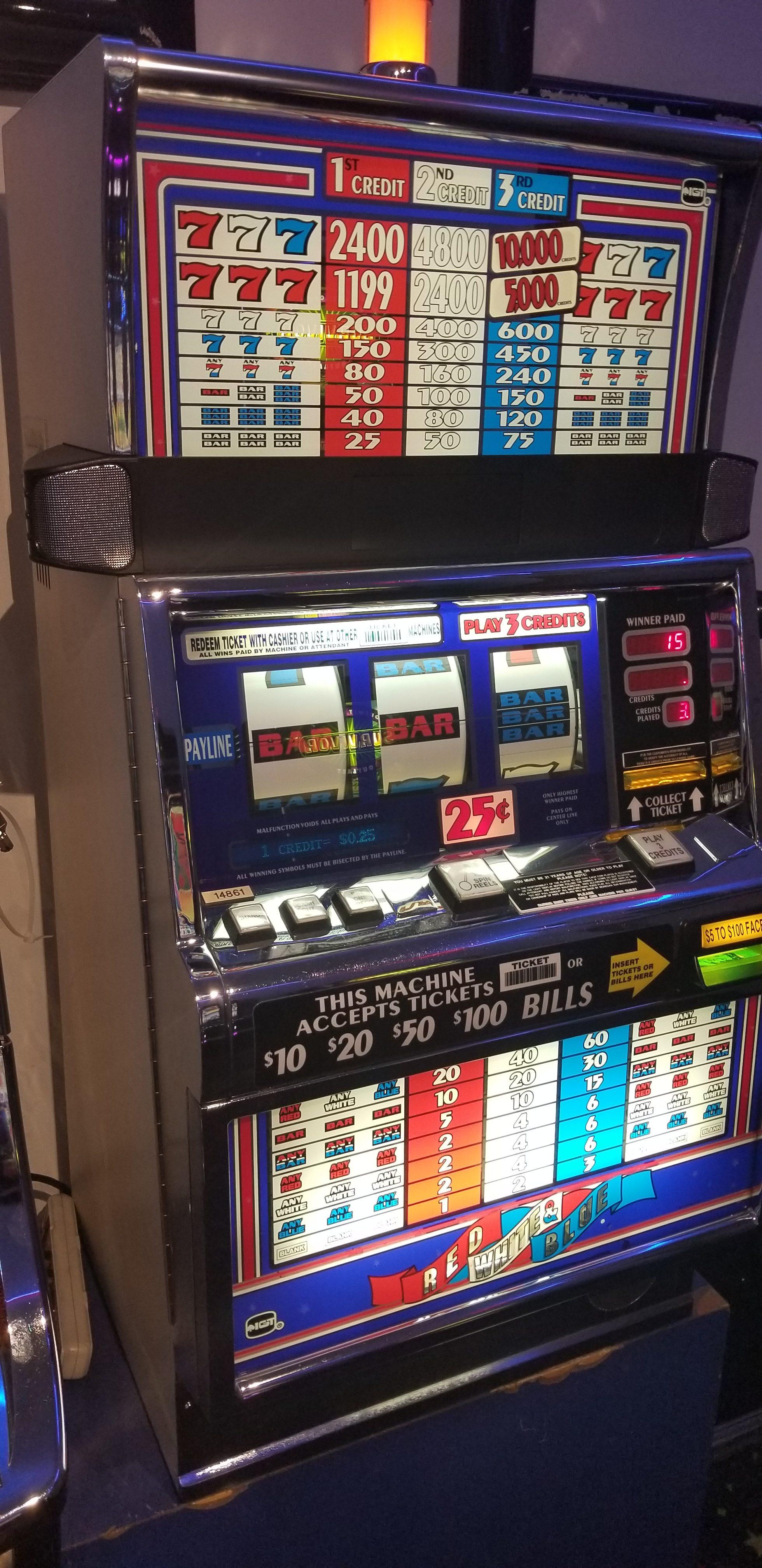 IGT S2000 Red White & Blue Slot Machine - Slot Machines